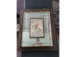 Quadro em vidro de decoração