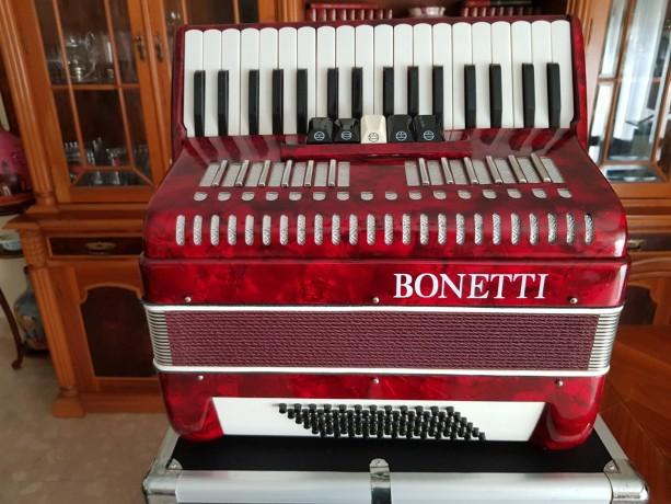 vendo-acordeon-de-teclas-bonetti-vermelho-em-optimo-estado-com-caixa-de-transporte-big-2